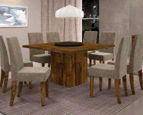 Conjunto de mesa con 8 sillas armonia