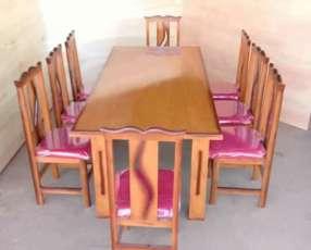 Juego comedor 8 sillas