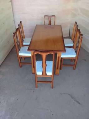 Juego comedor 6 sillas tapizadas