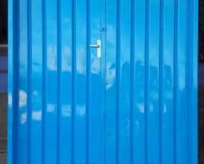 Puerta metalica doble hoja