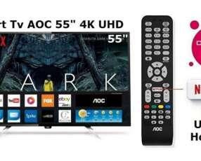 Smart Tv AOC 4K UHD 55 pulgadas nuevas