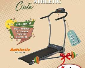 Cinta de caminar Athletic con una barra de pesa de regalo nuevo con garantía