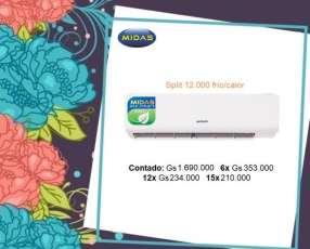 Aire acondicionado split Midas eco 12.000 btu nuevo