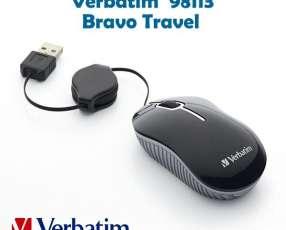 Mouse Verbatim con cable retractil