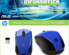 Mouse inalámbrico azul hp X3000