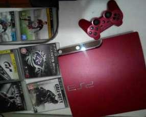 Playstation 3 roja edición limitada 9 juegos