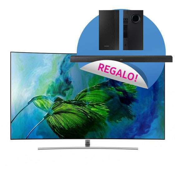 Televisor smart tv curvo Samsung 65 pulgadas 4K QLED