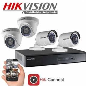 Kit 4 cámaras y 1 DVR metálico HD