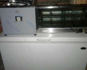 Fritadora eléctrica, exhibidora y congelador