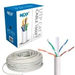 Caja de cable lan categoría 5e interiores 303mts color azul.