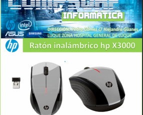 Mouse inalámbrico negro hp X3000