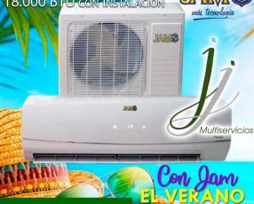 Split JAM 18.000 btu con instalación