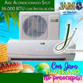 Aire acondicionado Split JAM 36.000 btu con instalación