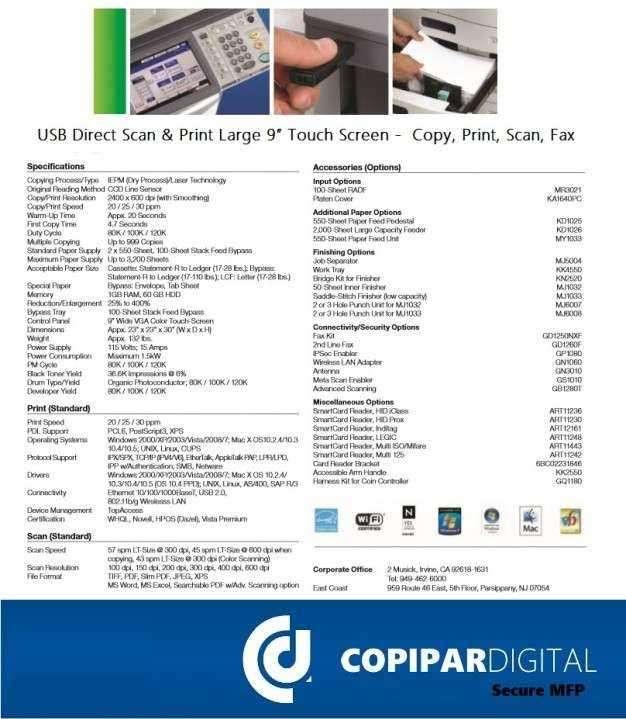 Fotocopiadoras Toshiba comerciales y profesionales - 2