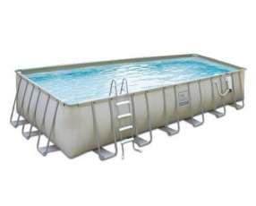 Piscina Bestway 56225 estructura metálica rectangular 14.812 litros