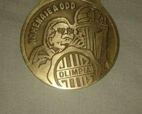 Medalla conmemorativa aniversario del Club Olimpia 2018