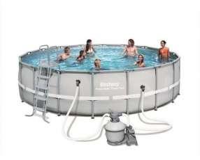 Piscina Bestway 56464 estructura metálica redonda 26.000 litros con filtro