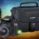 Camara Canon t6 kit premium lente 18-55 mm lente 75-300 mm y maleta