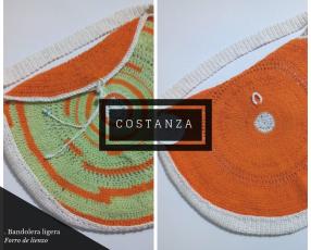 Bandolera de crochet hecho a mano
