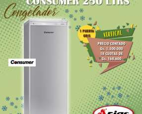 Congelador vertical Consumer 250 litros