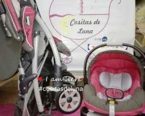 Carrito y baby car chicco para niña