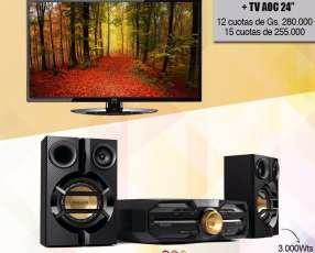 Equipo de sonido y TV AOC de 24 pulgadas