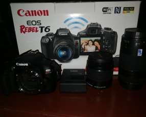 Cámara digital canon EOS T6 kit premiun