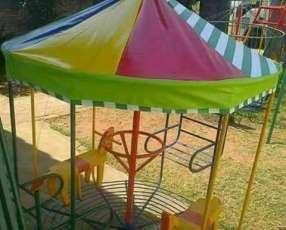 Calesitas hamacas con tobogán sillones hamacas