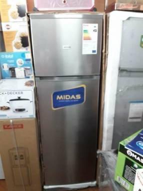 Heladera Midas inox de 350 litros