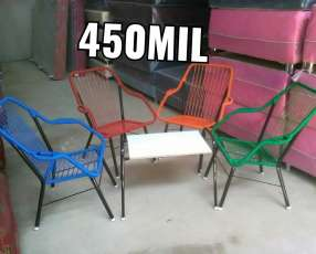 Juego de sillas