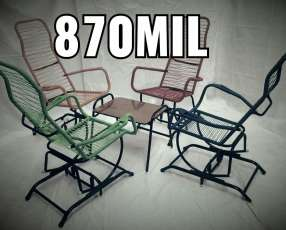Juego de sillones mecedoras