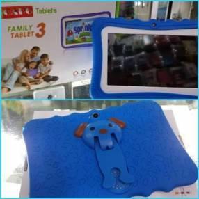 Tablet Family azul wifi y funda personalizada nuevo