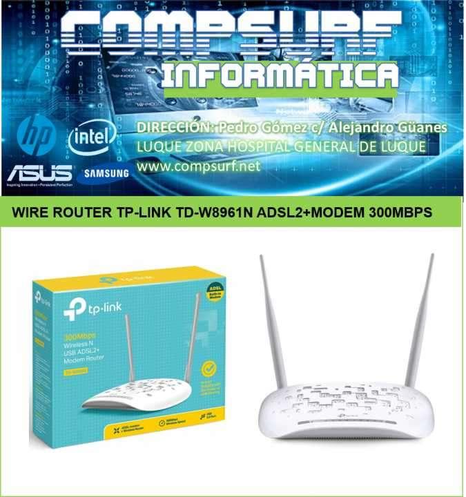 Módem router inalámbrico ADSL2 + N 300Mbps