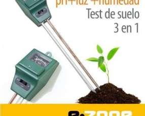 Tester de suelo 3 en 1 sin pilas mide pH + Luz + Humedad