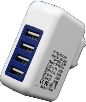Cargador USB 4 puertos - 0
