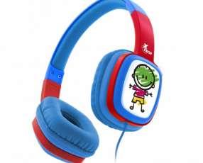 Fone+mic kid xtech xth-350bl headph azul/3.5mm