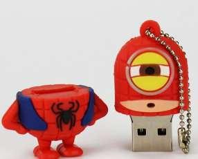 Pendrive 8 gb minion diseño hombre araña