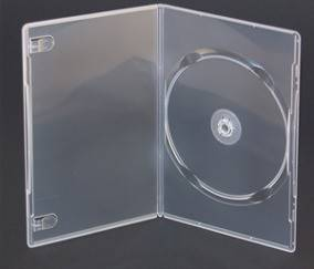 Porta cd/dvd caja gruesa trasparente para 1 disco