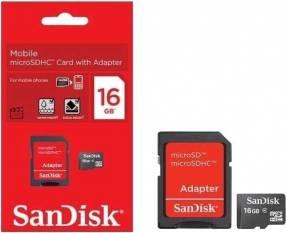 Memoria SD 16 gb Micro 2x1