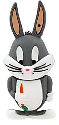Pendrive 8 gb Looney Tunes Bugs Bunny - 0