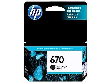 Tinta HP cz113al 670 negro 3525