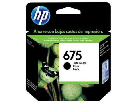 Tinta HP cn690al 675 negro