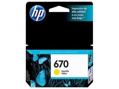 Tinta HP cz116al 670 yellow 3525