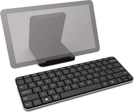 Teclado Microsoft U6R-00004 Mobile bt wedge - 1