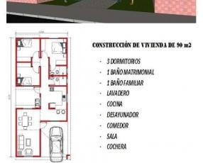Construcción de vivienda de 90 m2