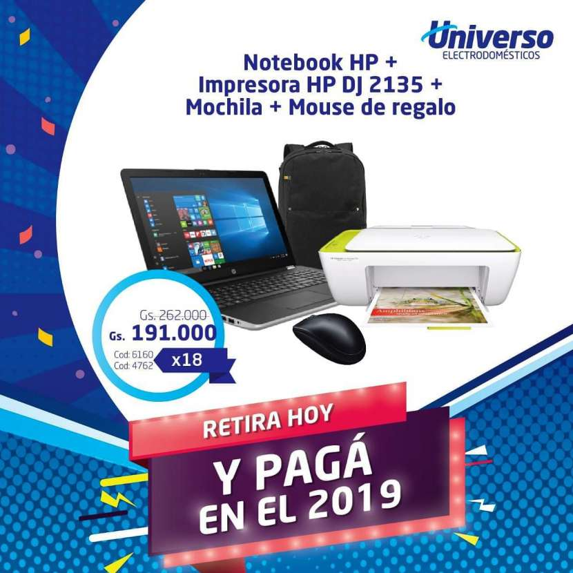 Notebook HP e impresora