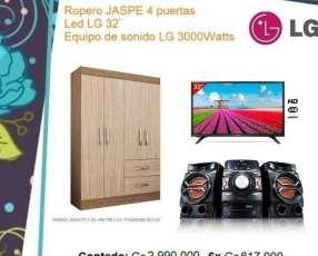 TV + Led LG + Equipo LG