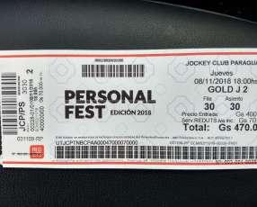 Entrada Personal Fest Robbie Williams Gold