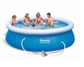 Piscina Bestway 57263 borde inflable 6665 litros con filtro