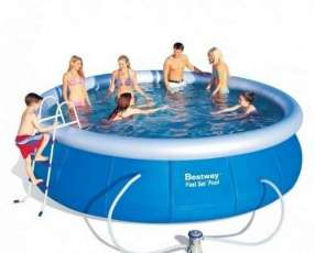 Piscina Bestway 57294 borde inflable 12362 litros con filtro